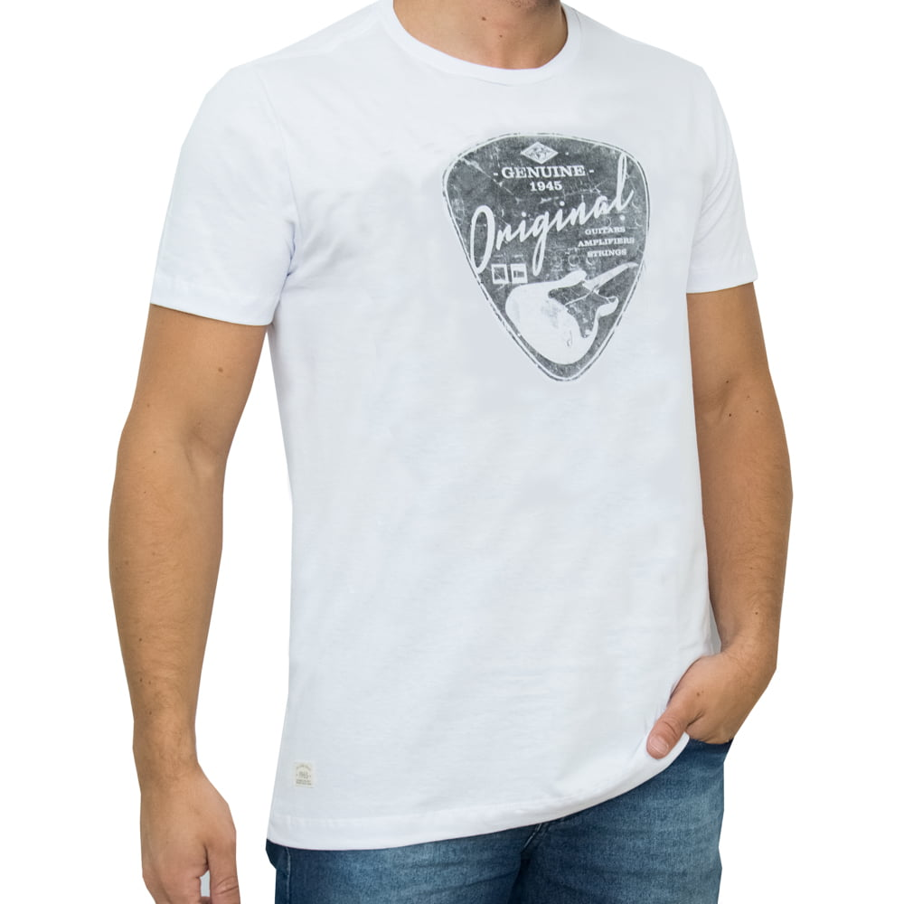 CAMISETA PACK M/C - GUITARS BRANCA