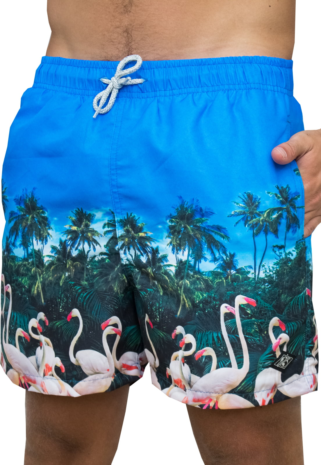 SHORT DE BANHO WIND - JUNGLE FLAMINGOS