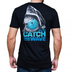 CAMISETA DIVERTIDA ESTAMPADA M/C - CATCH THE WAVE