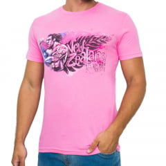 CAMISETA DIVERTIDA SLIM FIT M/C - ROSA RUGBY