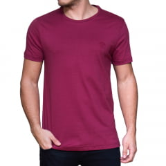 CAMISETA LOGIN M/C - BORDO