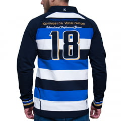 *POLO STOCKPORT RUGBY MANGA CUMPRIDA - AZUL